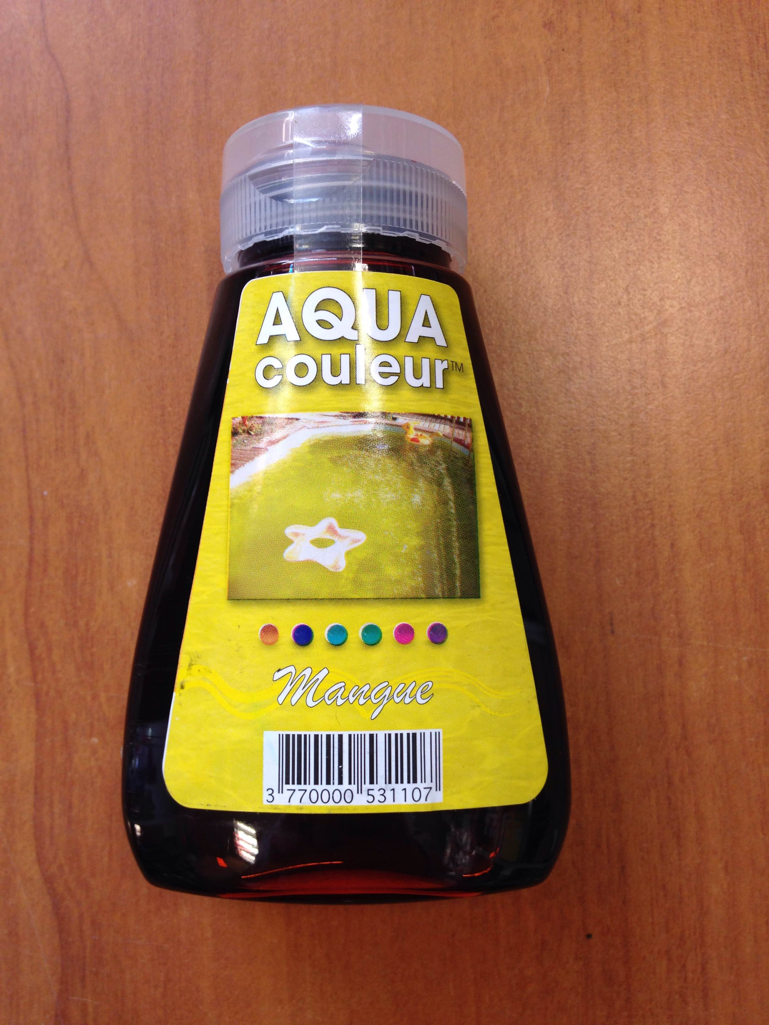 COLORANT PISCINE OU SPA JAUNE MANGUE AQUACOULEUR - FLACON 180 ML /